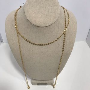 Stella dot gold lariat necklace